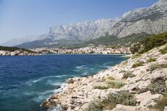 makarska, mediterranean sea, dalmatia, croatia, europe - stock photo