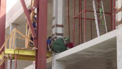 Building House And construction repair worker Stock Footage