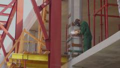 Building House And engineering worker is welding - stock footage