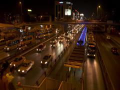 Metrobus Station In Istanbul - stock footage