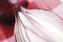 red onion, cut in half - stock photo