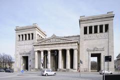 Stock Photo of propylaeen tempel, propylaea, classicism, koenigsplatz square, munich, bavari