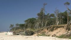 Darsser Weststrand - Baltic Sea, Northern Germany Stock Footage