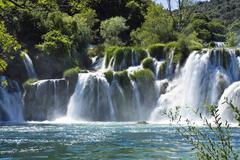 Krka waterfalls, krka national park, dalmatia, croatia, europe Stock Photos