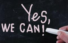 Stock Illustration of yes, we can!