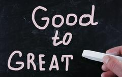 Stock Illustration of good to great