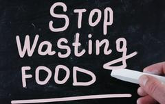 stop wasting food - stock illustration