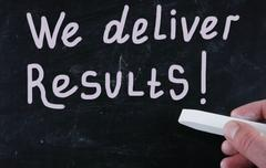Stock Illustration of we deliver results!