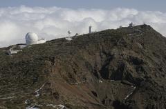 Observatory, Roque de los Muchachos, Caldera de Taburiente National Park, La - stock photo
