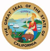 seal of the state of california - stock illustration