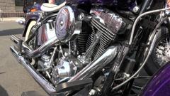 Close up of a Harley Davidson engine, 4K Stock Footage