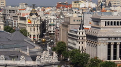 View from TheCybele Palace in Madrid Stock Footage