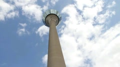 Rheinturm tower. Dusseldorf . Germany Stock Footage
