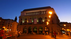 Teatro Real – Royal Theatre, Opera in Madrid Stock Footage