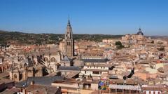 Cityscape of Toledo Stock Footage