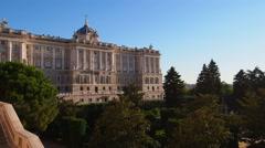 Palacio Real – Royal Palace in Madrid Stock Footage