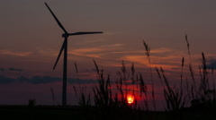 Windmill Sunset 1080 MLRAW Stock Footage