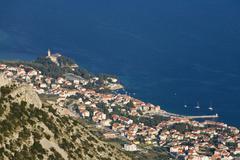Bol, brac island, dalmatia, croatia, mediterranean sea, europe Stock Photos