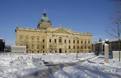 federal administrative court, leipzig, saxony, germany, europe - stock photo