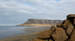 Snaefellsjokull time lapse, Iceland Stock Footage