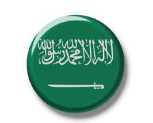 button, flag of saudi arabia - stock photo