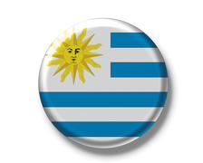 Stock Photo of button badge, flag, uruguay