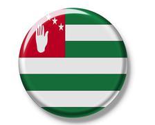 button, flag of abkhazia - stock photo