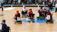German vs Suisse Handicapped Hockey Team IWAS World Championships 2014 - stock footage