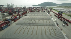 Aerial Image of a Port #1 Stock Footage
