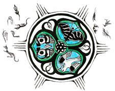 mandala sketch - stock illustration