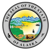 Seal of the state of alaska Stock Illustration