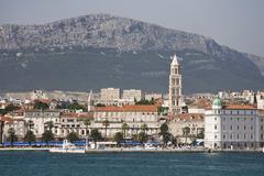 skyline of split, dalmatia, croatia, adriatic sea, mediterranean, europe - stock photo