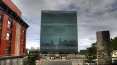 4K UltraHD timelapse näkemys YK Building New Yorkissa Arkistovideo
