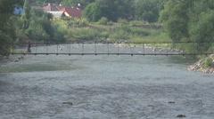 Mountain river Tisza Stock Footage