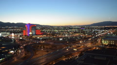 Las Vegas timelapse, Rio Hotel and city with mountains Stock Footage