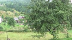 Ukraine, Carpathian Mountains, the village Stock Footage