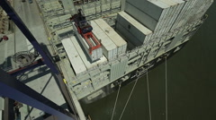 Aerial Image of a Port #2 Stock Footage