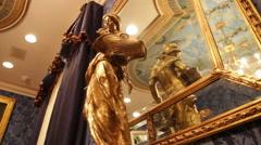 Ornamental Gold Statutte - stock footage
