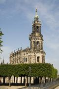 hofkirche cathedral, dresden, saxony, germany - stock photo