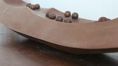 Bronze Melon Sculpture Stock Footage