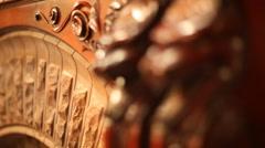 Intricate Woodwork II - stock footage