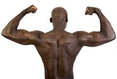 muscular, dark-skinned man, 30 - stock photo