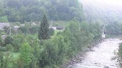 Ukraine, Carpathian Mountains, river Stock Footage
