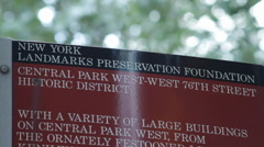 NY Landmarks Preservation Fountain Stock Footage