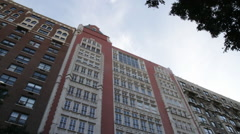 Apartment Frontal View Stock Footage