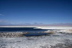 Salar de atacama, salt lake, atacama desert, chile, south america Stock Photos