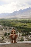 Tikse monastery, overlooking the indus plateau, river oasis, with a tradition Stock Photos