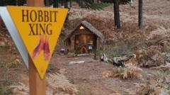 Hobbit X-ing Stock Footage