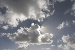 sun and clouds, juist island, north sea, lower saxony, germany, europe - stock photo
