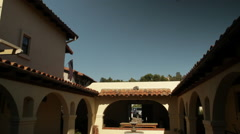 Southwestern Courtyard - stock footage
